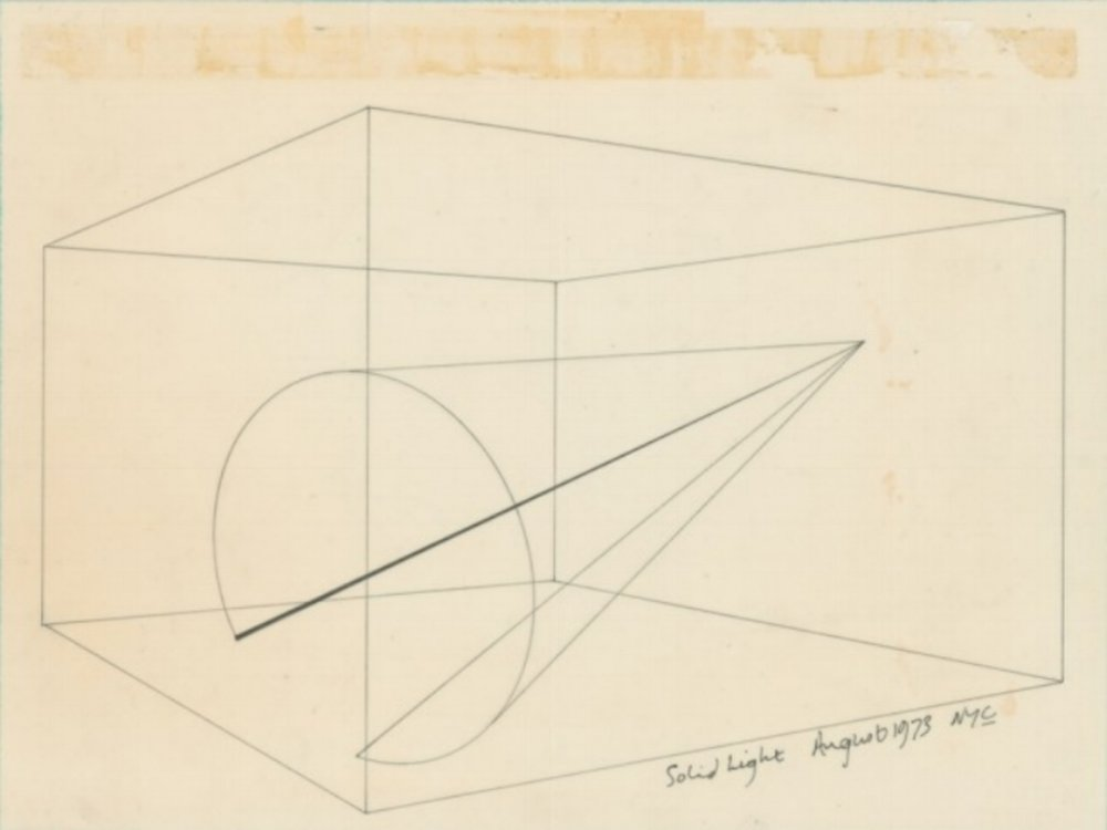 Anthony McCall sketch, 1973.