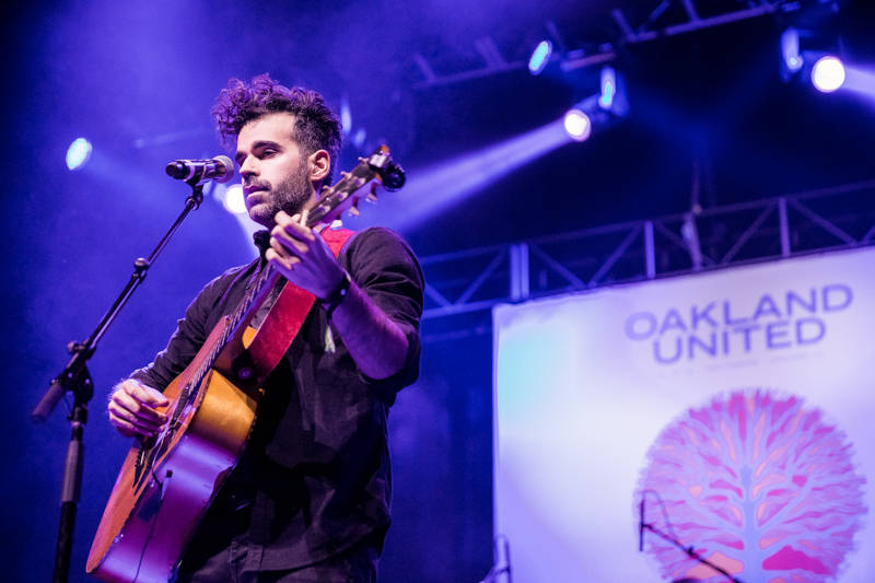 Geographer performs at the Oakland United benefit at the Fox Theater on Dec. 14, 2016.