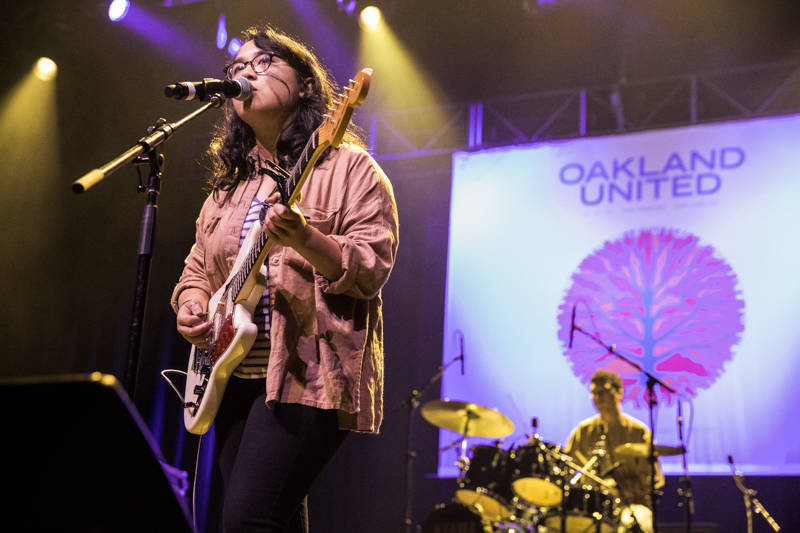 Jay Som performs at the Oakland United benefit at the Fox Theater on Dec. 14, 2016.