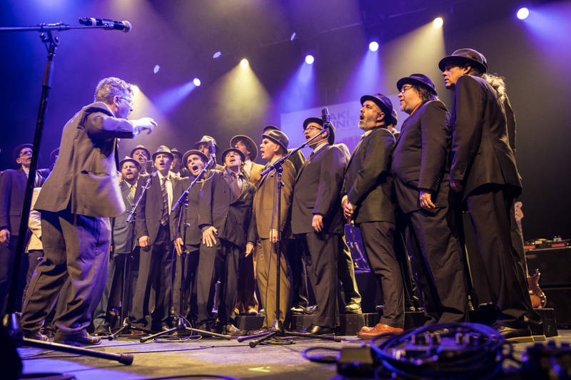 Conspiracy of Beards at the Oakland United benefit at the Fox Theater on Dec. 14, 2016.