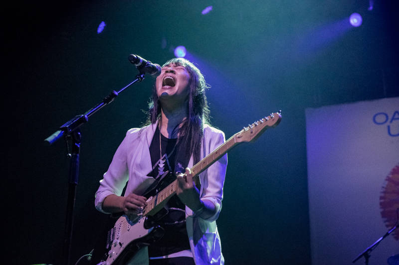 Thao Nguyen performs at the Oakland United benefit at the Fox Theater on Dec. 14, 2016.
