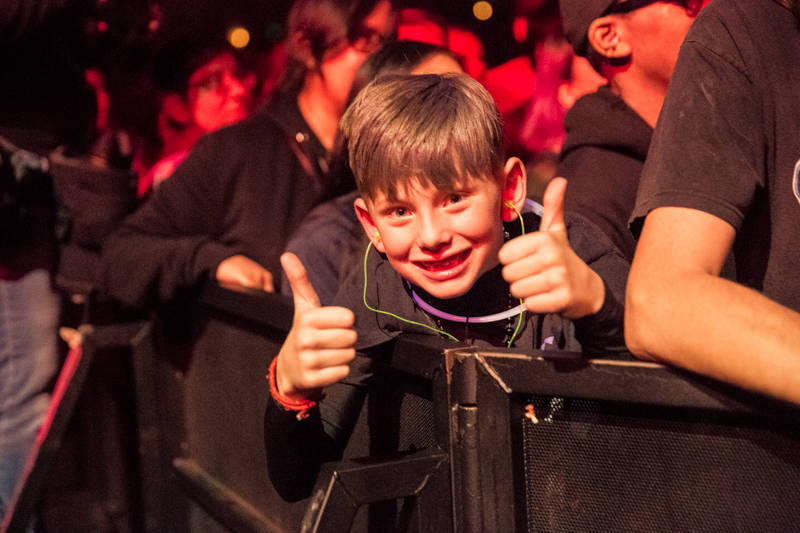 A young fan at the Oakland United benefit at the Fox Theater on Dec. 14, 2016.