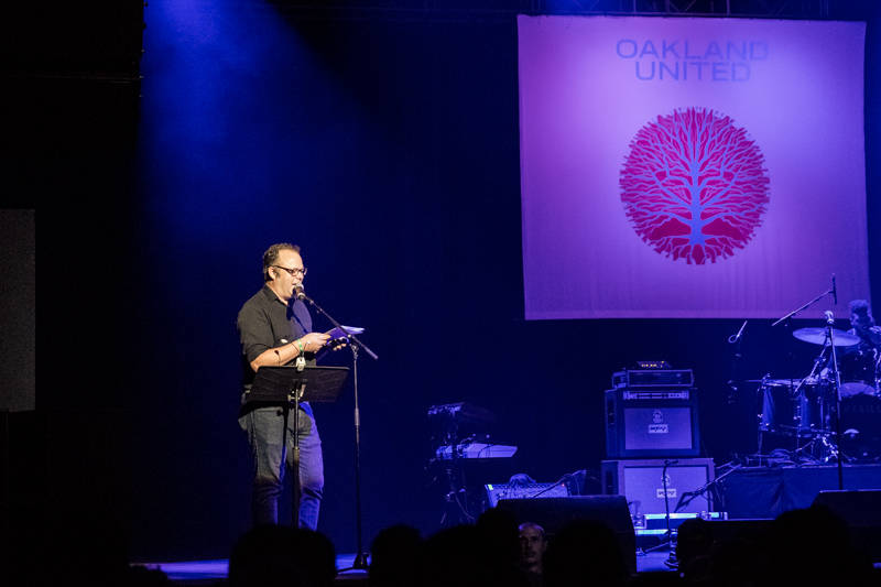 KQED Arts Online Editor Gabe Meline reads from his essay 'It Could Have Been Any One of Us' at Oakland United.