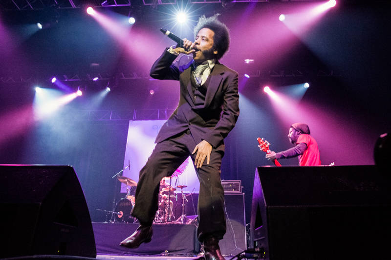 Boots Riley of The Coup performs at the Oakland United benefit at the Fox Theater on Dec. 14, 2016.