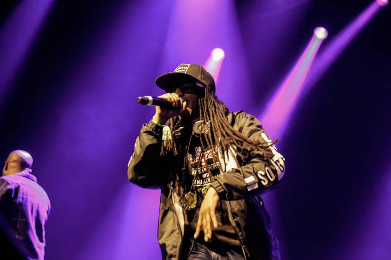 A-Plus of the Hieroglyphics Crew performs at the Oakland United benefit at the Fox Theater on Dec. 14, 2016.