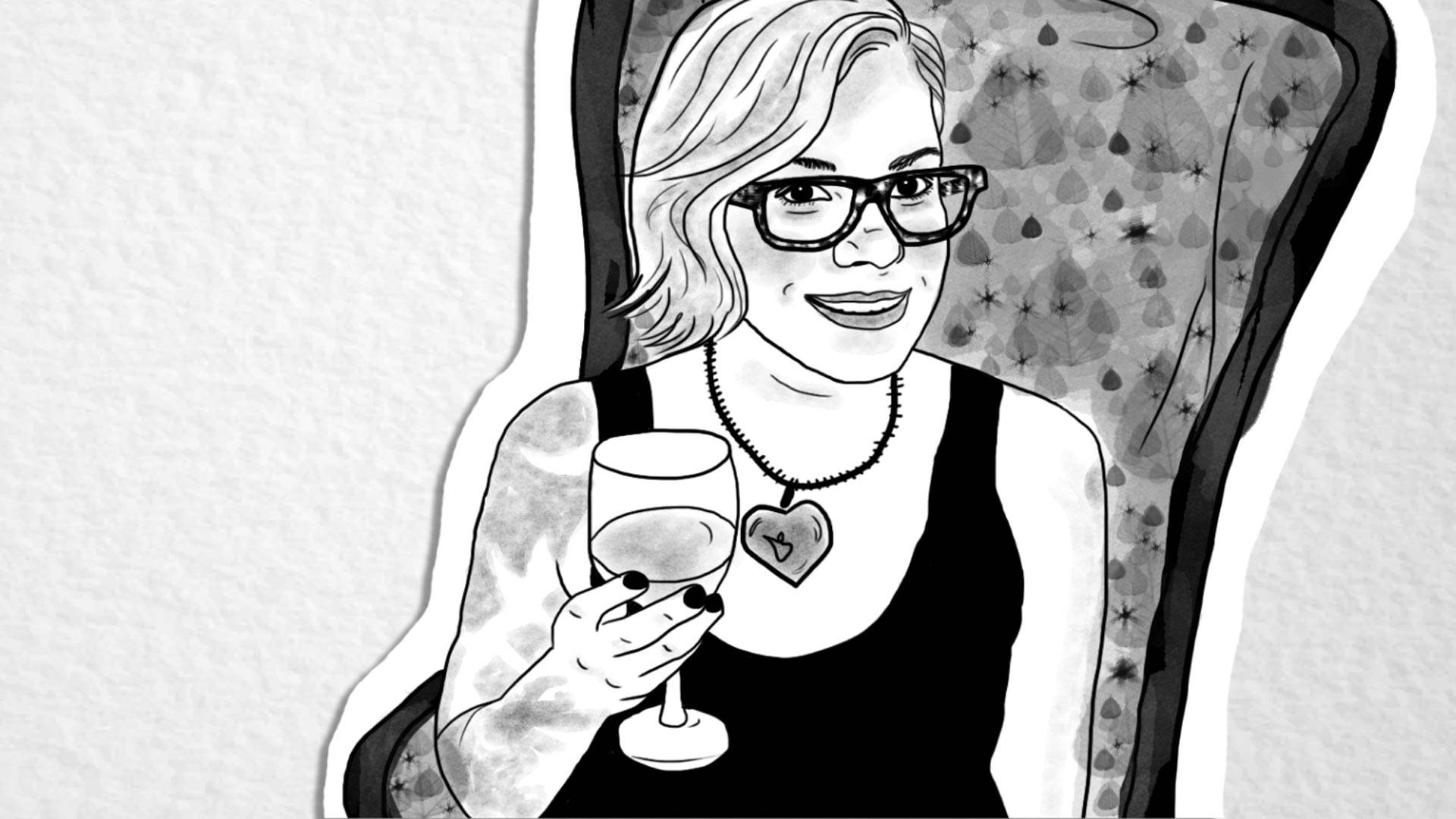 Amanda Allen Kershaw. Illustration by Julianna Cecere/KQED