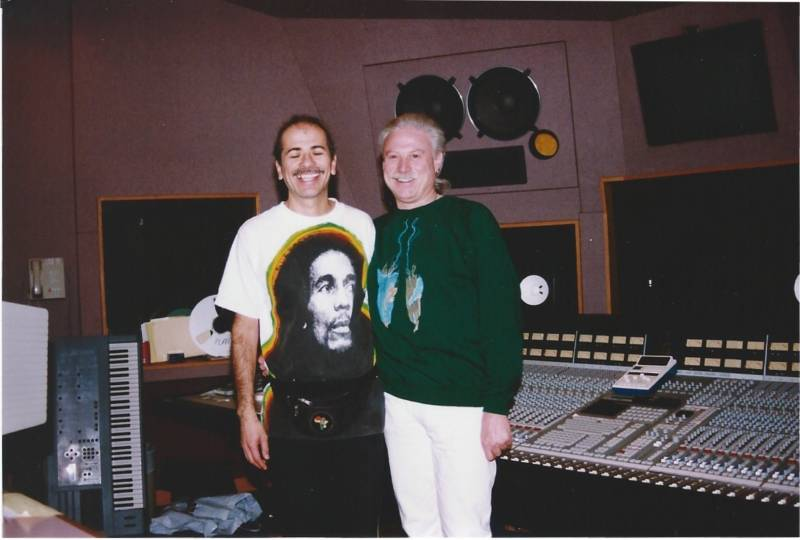 Carlos Santana and Arne Frager at the Record Plant