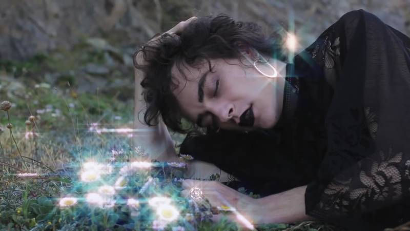 "Cash Askew in the music video for Chasms' ""Beyond Flesh."""