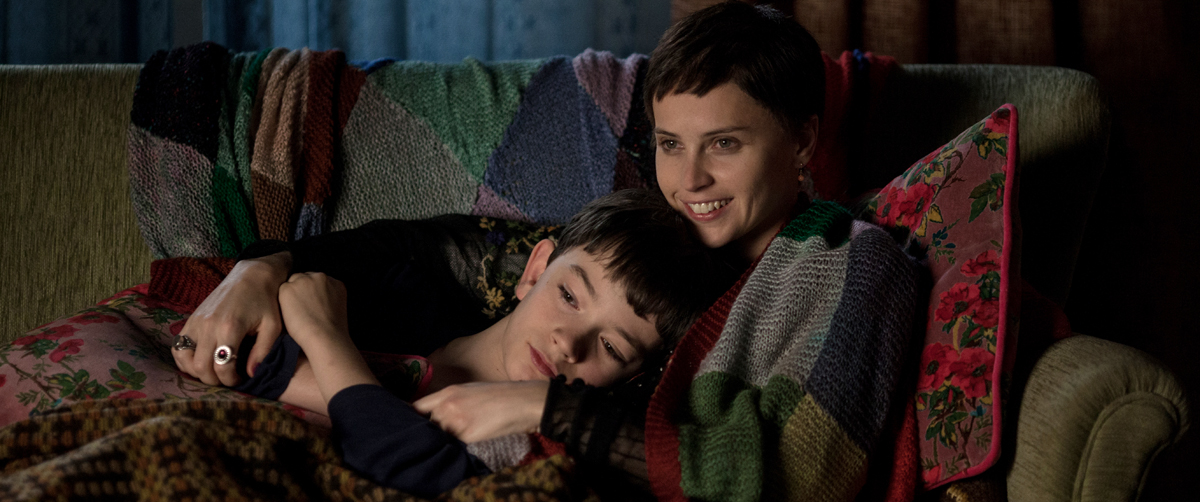 Lewis MacDougall (left) stars as Conor and Felicity Jones (right) stars Mum in director J.A. Bayona's 'A Monster Calls.'