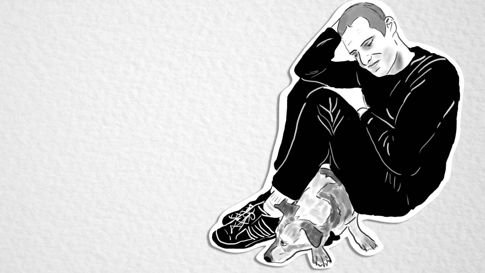 Edmond Lapine. Illustration by Melanie Ruiz/KQED
