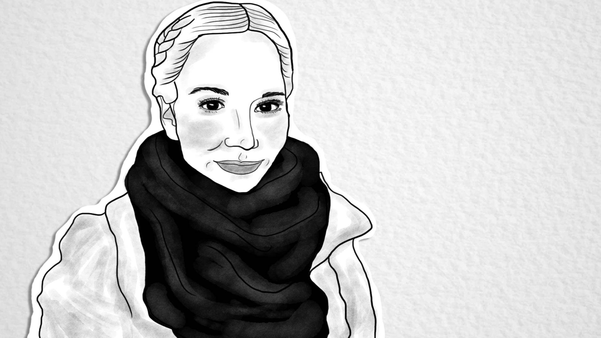 Hanna Ruax. Illustration by Julianna Cecere/KQED