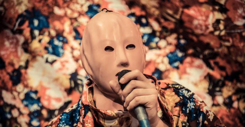 Jassem Hindi (Masked Man) speaks of Arab futurism in 'future friend/ship.'