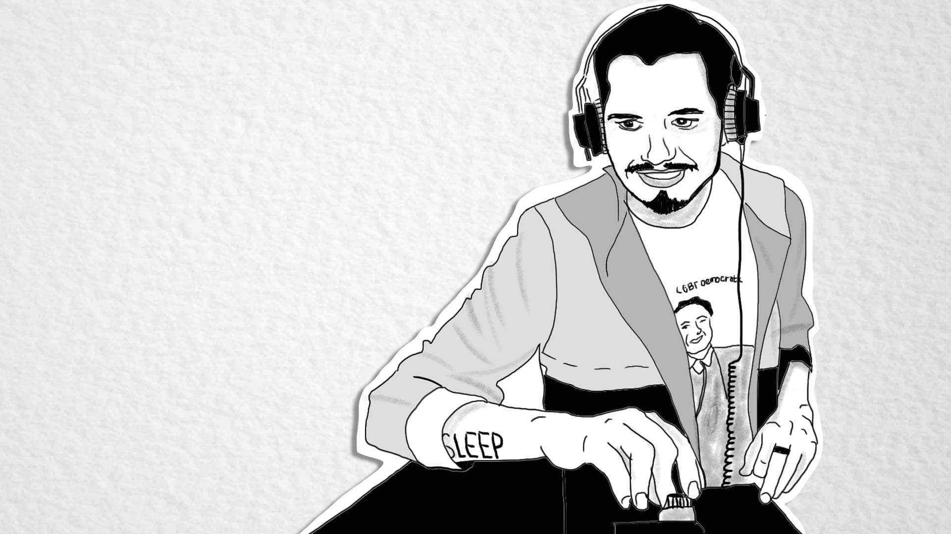Johnny Igaz. Illustration by Claudia Escobar/KQED
