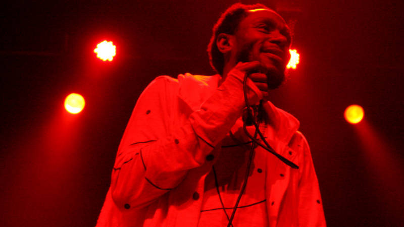 Yasiin Bey performs at the Fox Theater in Oakland on Friday, Dec. 9, 2016.
