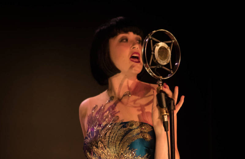 Megan Wicks as Velma in The Speakeasy.