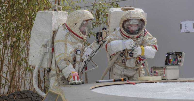 Astronauts explore Jupiter's icy moon, Europa, and the YBCA galleries.