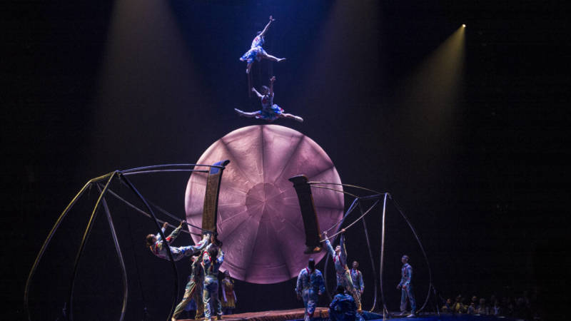 Some terrifying acrobatics in Cirque du Soleil's 'Luzia.'