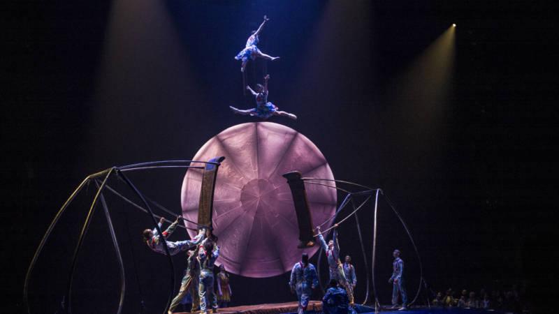 Some terrifying acrobatics in Cirque du Soleil's 'Luzia.'