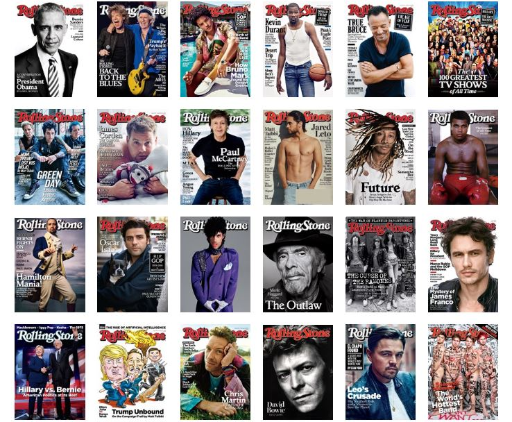 The year in dudes -- aka 'Rolling Stone' covers.