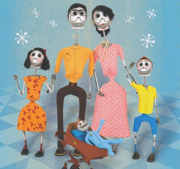 'Mi Familia Calaca: A Mexican Folk Art Family' in English and Spanish by Cynthia Weil and illustrated by Jesus Canseco Zárate