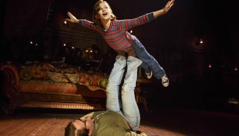 Small Alison (Alessandra Baldacchino) and her father Bruce share one of many moments of harmony in 'Fun Home' at the Curran Theater.