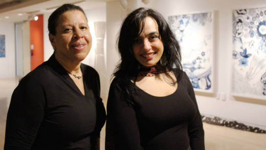 Jacqueline Francis and Kathy Zarur, co-curators of 'Where is Here' at the Museum of African Diaspora.