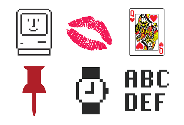 Icons by Susan Kare, 1983-2015.