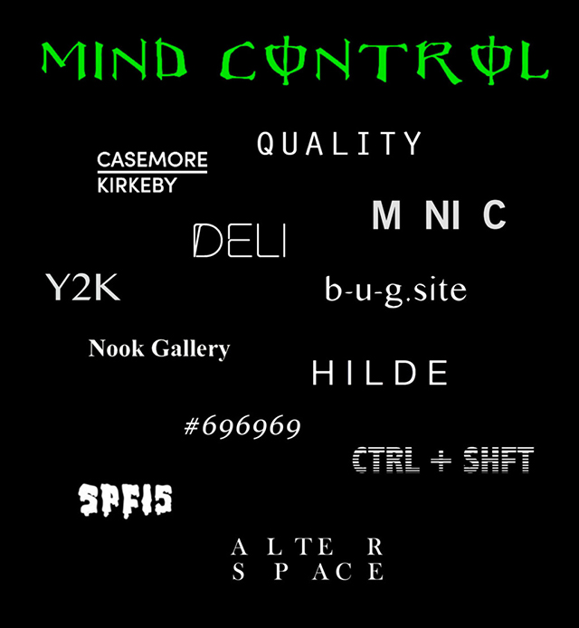 Mind Control at Alter Space, Jan. 12-15.