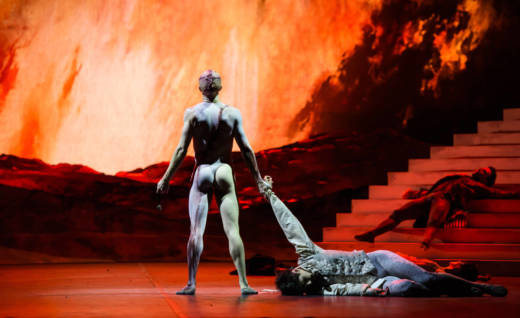 A scene from the Royal Ballet production of Liam Scarlett's 'Frankenstein', now being staged at the San Francisco Ballet