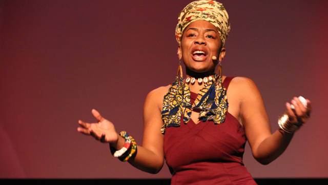 Queen Nyabingha Zianni hosts Youth Speaks' 20th annual 'Bringing the Noise for Dr. Martin Luther King' at the Nourse Theater.