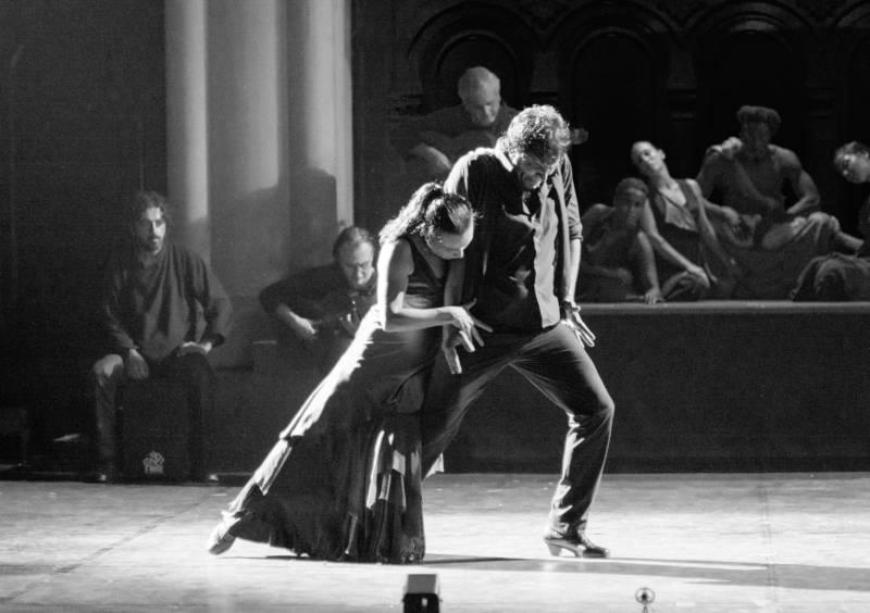 Soledad Barrio as Antigone and Juan Ogalla as Haemon in Antigone (Photo: Zarmik Moqtaderi)