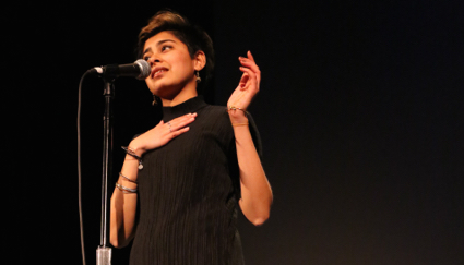 Shivani Narang stakes out a radical poetics at 'Bringing the Noise for Dr. Martin Luther King Jr.' at the Nourse Auditorium.