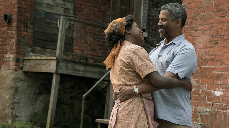 Viola Davis and Denzel Washington in 'Fences.'