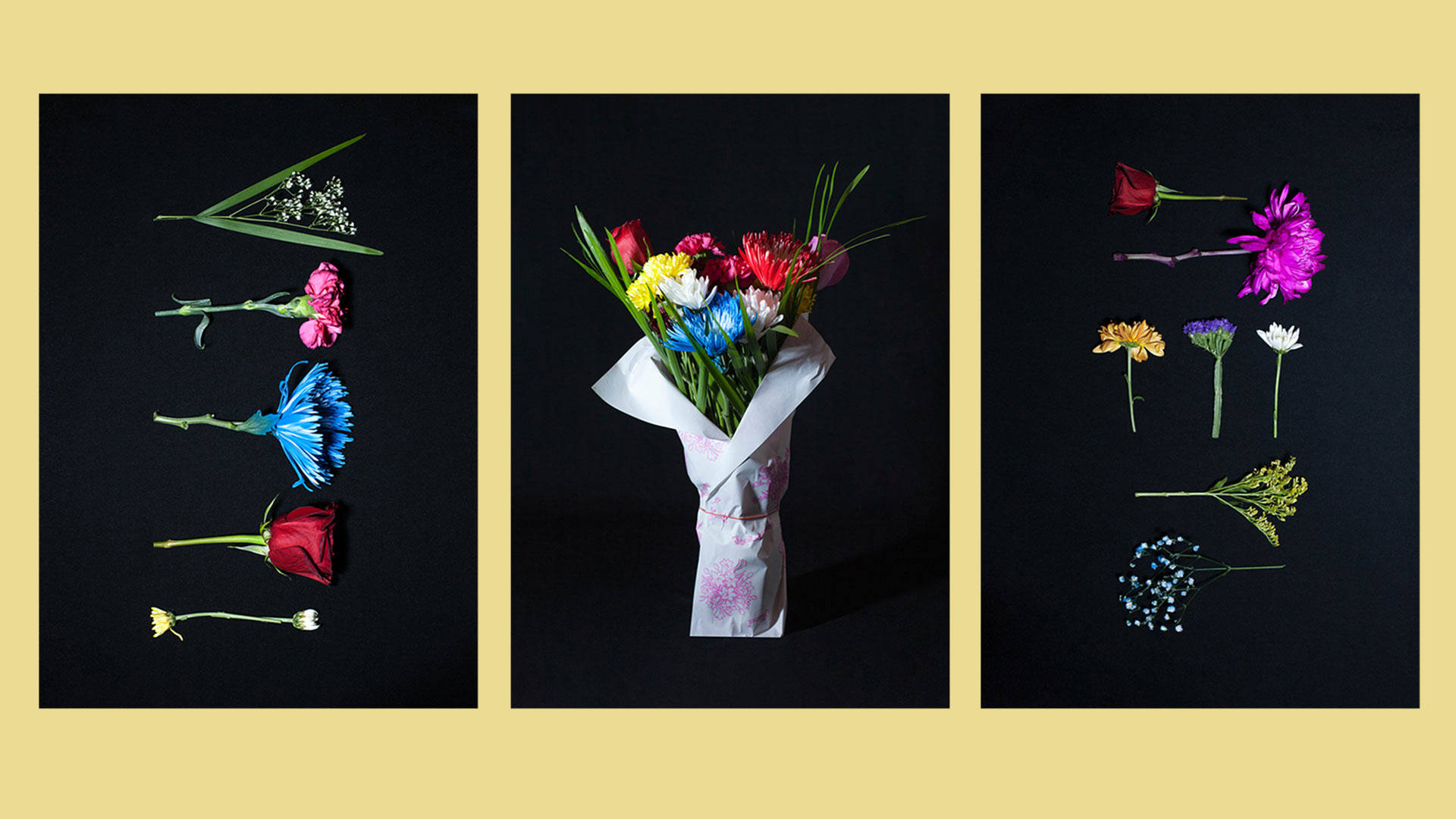 """Flowers for Immigration,"" a photo series created and curated by designer Liziana Cruz captures floral arrangements created by the men and women working in bodegas cross New York city. Lenny Letter and Lizania Cuz"