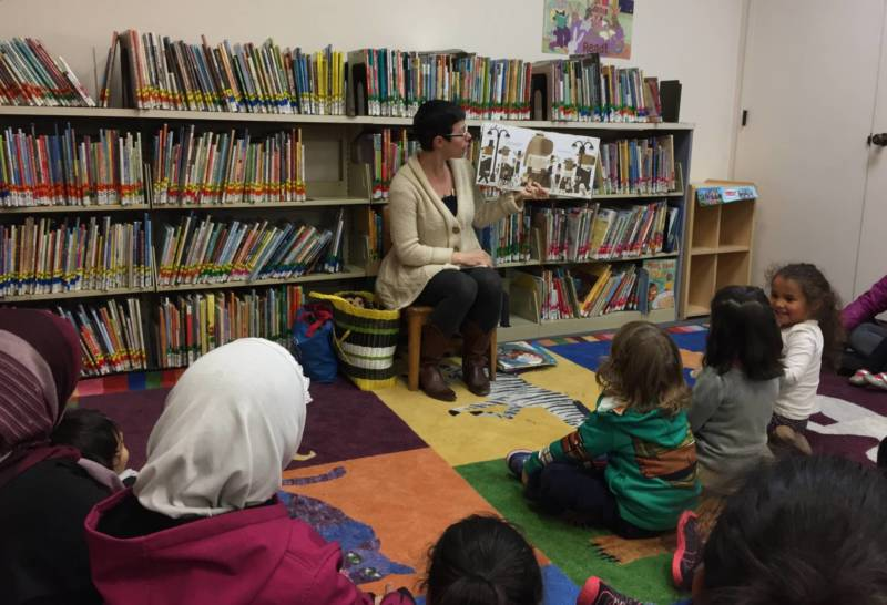 Librarian Miriam Medow runs the weekly story time at the Dimond Branch of the Oakland Public Library