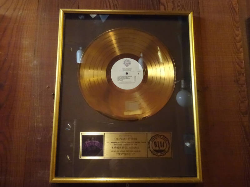 Gold Record for John Fogerty's 'Centerfold'