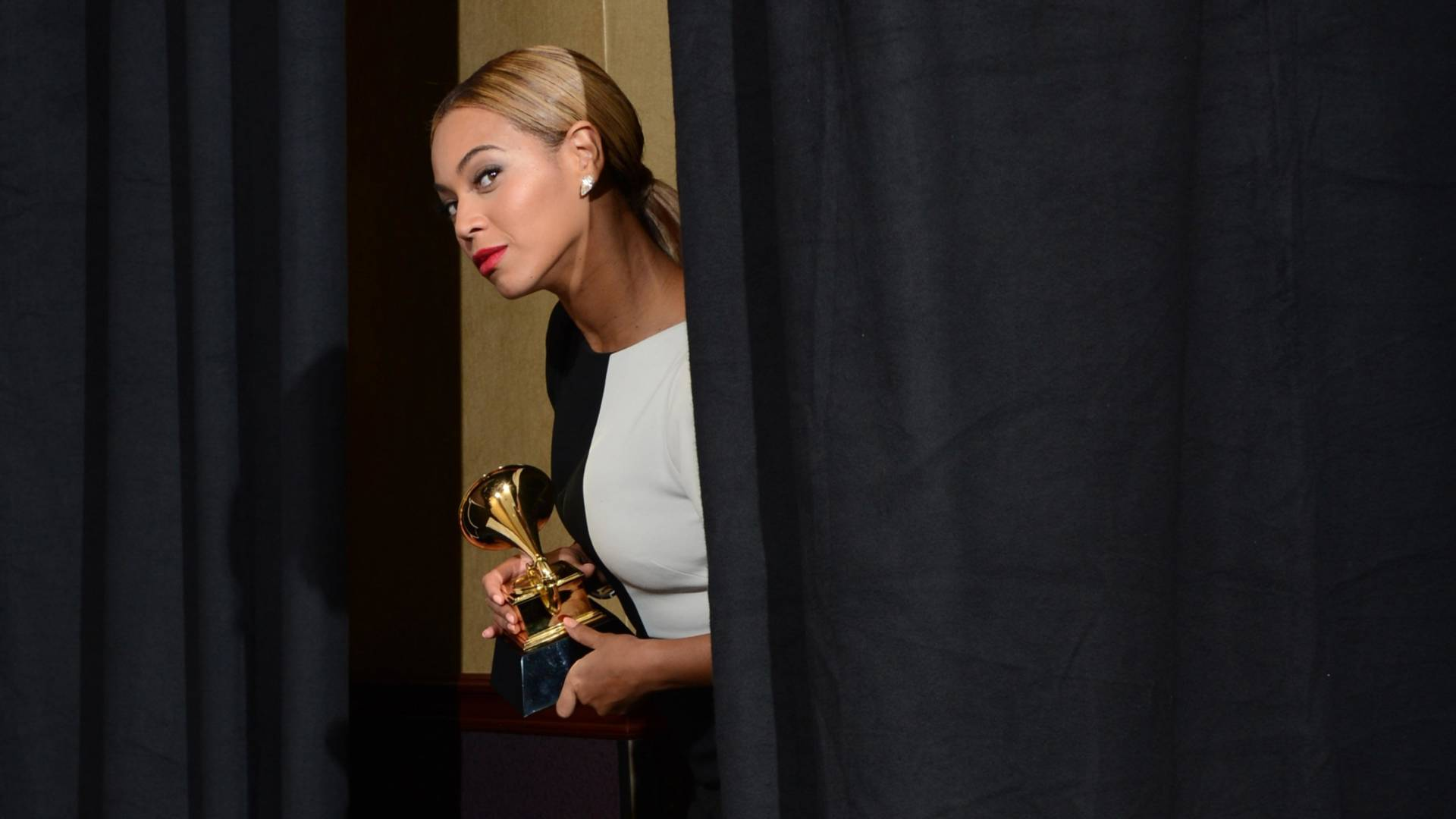 Beyoncé at the 55th Grammy Awards, February 10, 2013.  Whether or not the singer wins Album of the Year for 'Lemonade' is being seen as a litmus test for the Grammy Awards' relevance. Photo: Robyn Beck/AFP/Getty Images