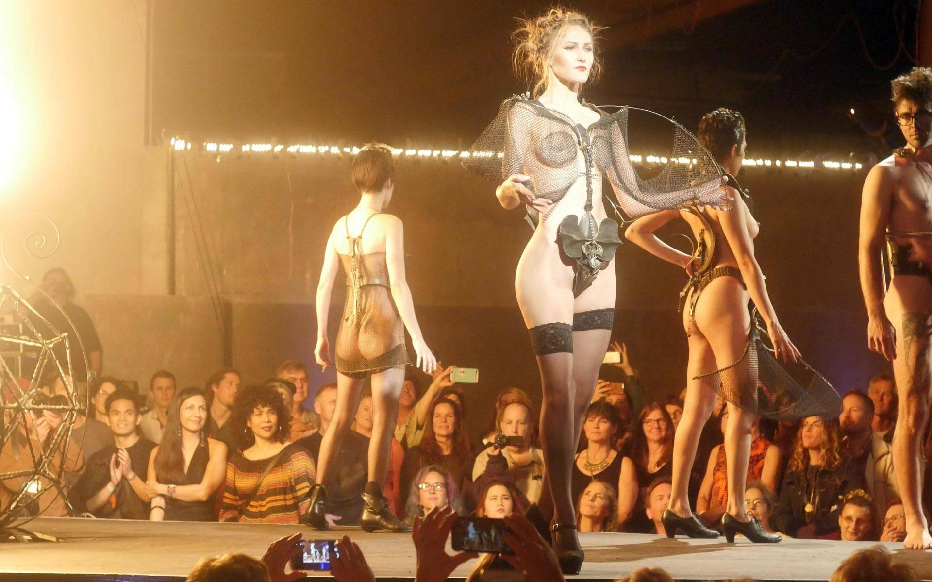 The runway at 'Hot Couture,' the Crucible's annual fashion show. Photo: Benjamin Michel