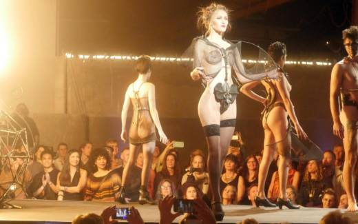 The runway at 'Hot Couture,' the Crucible's annual fashion show.