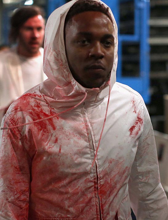Kendrick Lamar at the Grammy Awards in 2014, the year Macklemore won Best Rap Album.