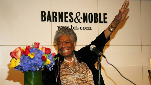 Maya Angelou signs copies of 'Maya Angelou: Letter to My Daughter' at Barnes & Noble in 2008.