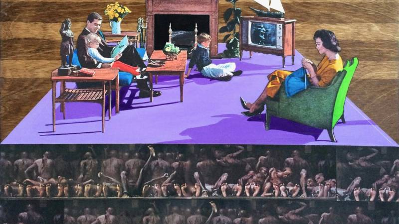 "Detail of ""Den of Iniquity"" by San Francisco visual artist Mark Harris. ""Whenever you tell a cultural group that they can't tell their own story, that's how things get whitewashed,"" Harris says."