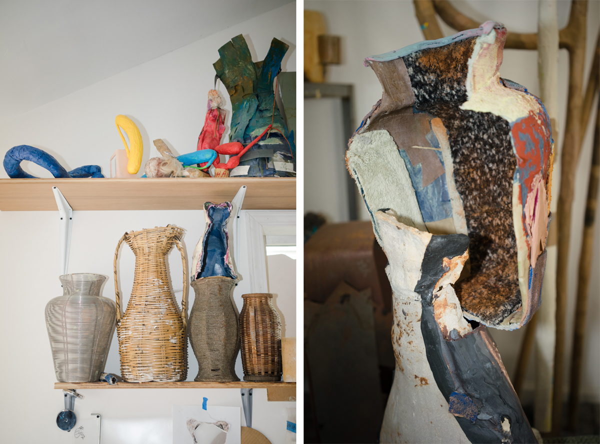 Woven and artist-made vessels.