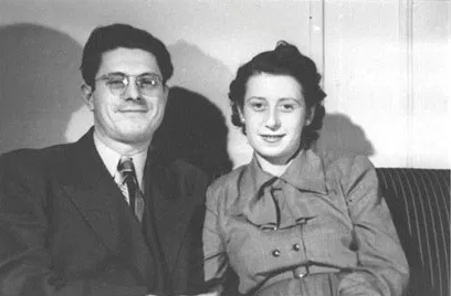 Rosa Klein with husband, Herbert, 1945