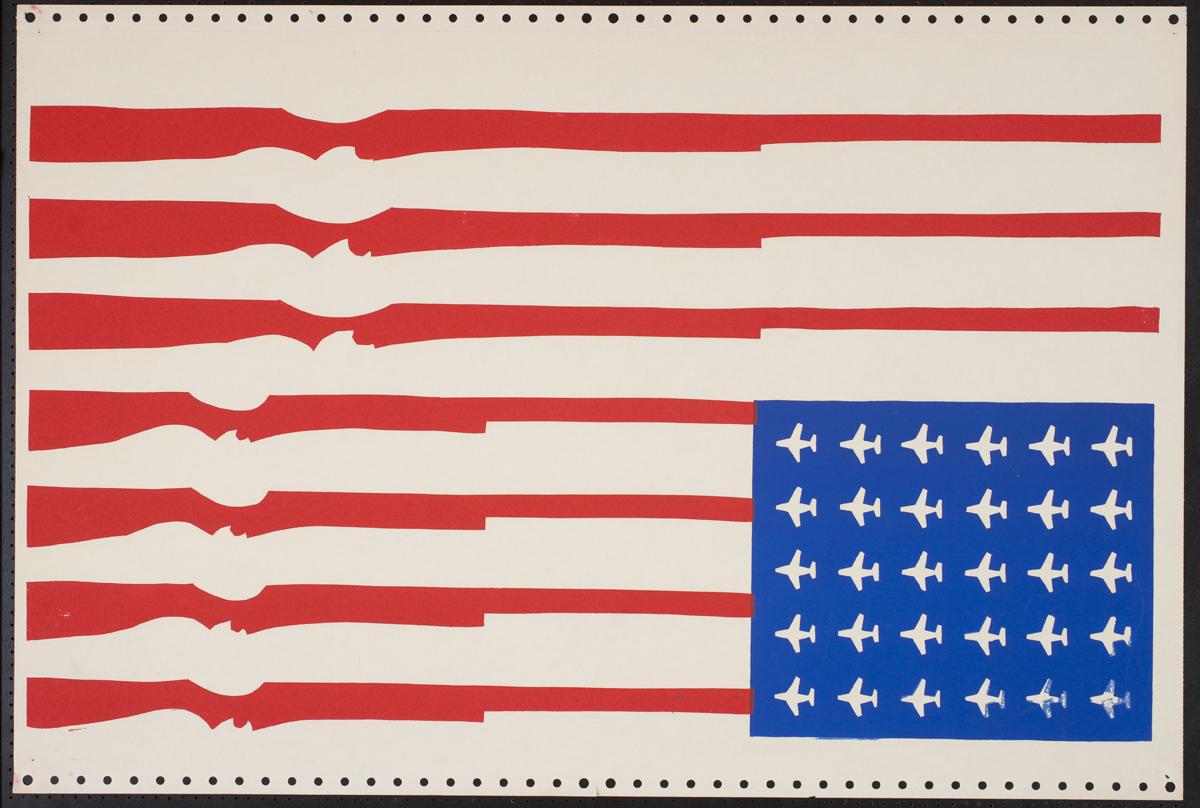 'Untitled,' c. 1970, Screenprint on paper.