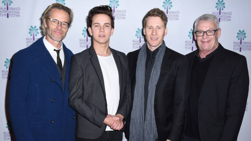 Actors Guy Pearce and Austin McKenzie, writer Lance Black and activist Cleve Jones attend the North American Premiere of 'When We Rise' at the 28th Annual Palm Springs International Film Festival.