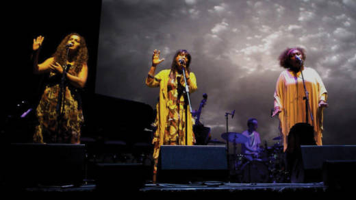 The singers of Black Arm Band perform Dirtsong about aboriginal culture in three local concerts