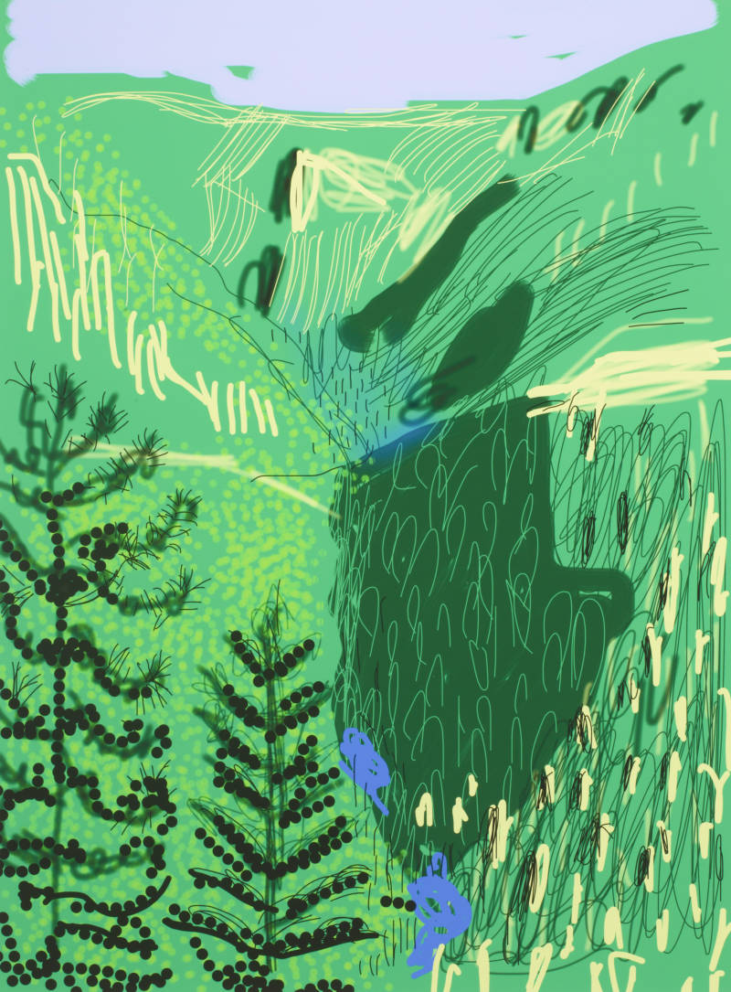 """Untitled No. 21"" from The Yosemite Suite, 2010, by David Hockney."