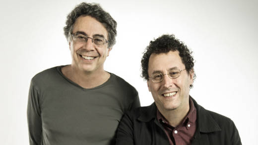 (l to r) Tony Taccone and Tony Kushner, director and playwright of 'Angels in America'