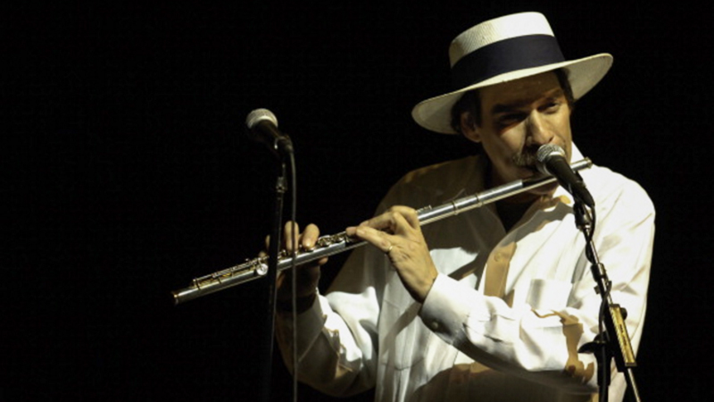 Dave Valentin Performs On Flute At The U0027All Star Latin Jazz Tribute To Tito